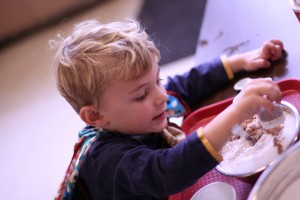 picture of child creating art