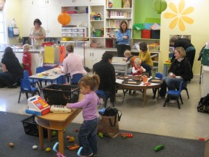 picture of two year olds in a classroom setting